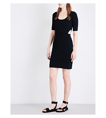 ELIZABETH AND JAMES Haiden stretch-jersey dress (Black