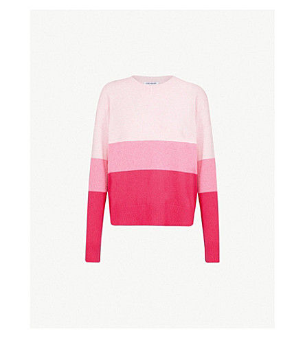 ELIZABETH AND JAMES Oliver cashmere jumper (Magenta+stripe