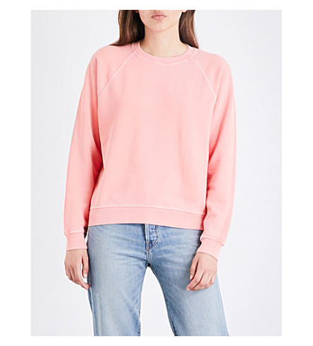 ELIZABETH AND JAMES Vintage cotton-jersey sweatshirt (Peach+melba