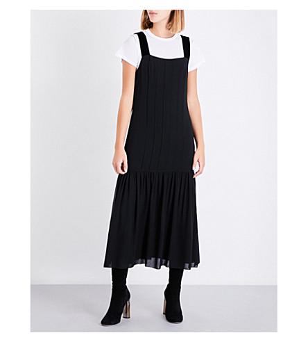 ELIZABETH AND JAMES Sabella silk-chiffon dress (Black