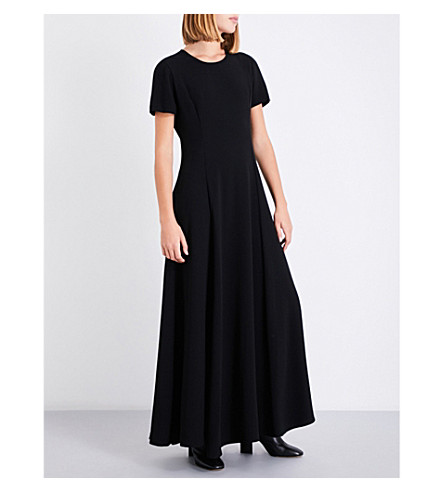 ELIZABETH AND JAMES Alba crepe maxi dress (Black