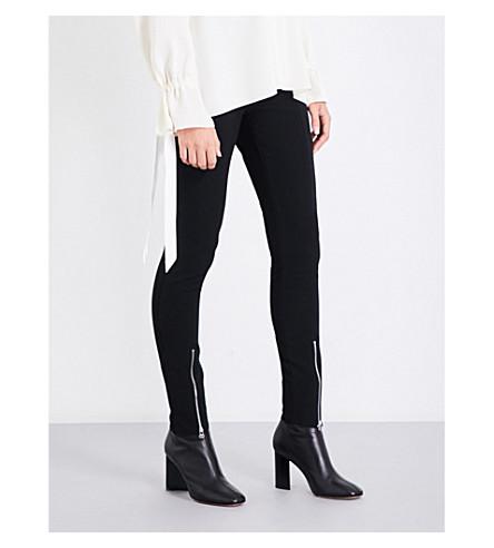 ELIZABETH AND JAMES Eddine skinny high-rise gabardine trousers (Black
