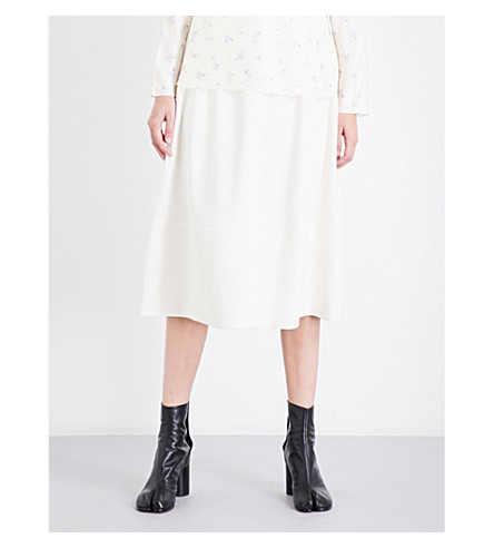 ELIZABETH AND JAMES Lottie high-rise woven skirt (Alabaster