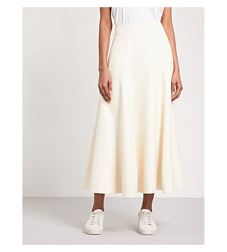 ELIZABETH AND JAMES Elias A-line woven skirt (Creme