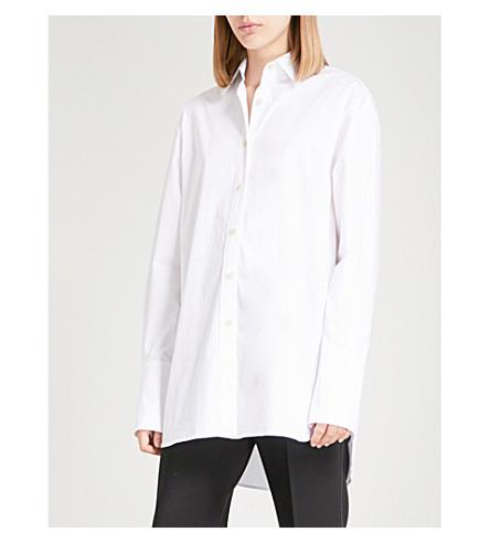ELIZABETH AND JAMES Francois stretch-cotton shirt (White