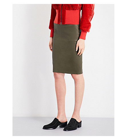BY MALENE BIRGER Floridia leather pencil skirt (Hunter