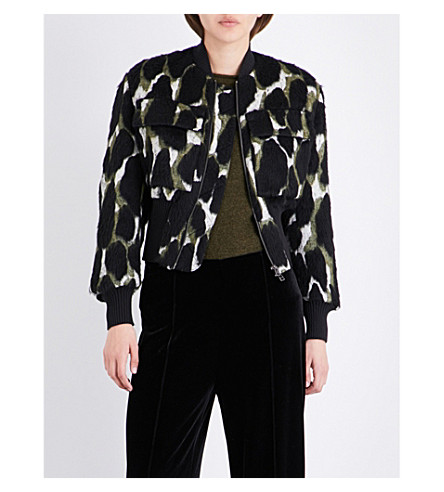 BY MALENE BIRGER Banu knitted bomber jacket (Hunter