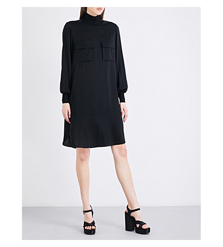 BY MALENE BIRGER Meliza stretch-silk dress (Black