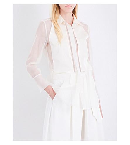 BY MALENE BIRGER Lyriena silk-organza shirt (Frozen