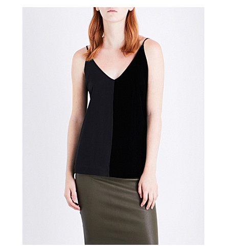 BY MALENE BIRGER Nabista silk and velvet top (Black