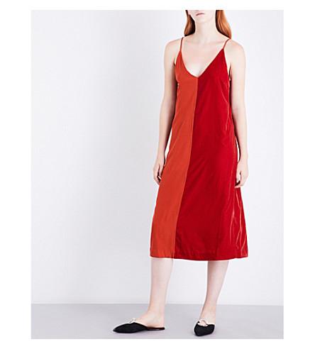 BY MALENE BIRGER Nabras silk and velvet dress (Fall+red
