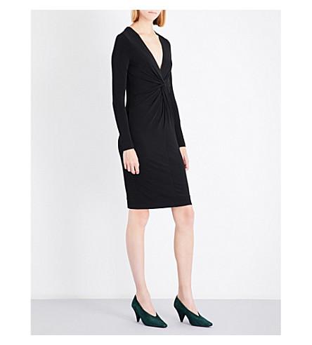 BY MALENE BIRGER Amillos knot-detail woven dress (Black