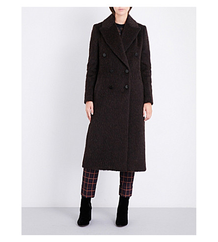 BY MALENE BIRGER Ayana double-breasted woven coat (Espresso