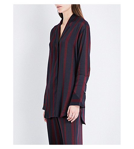 BY MALENE BIRGER Fridari striped satin shirt (Wine