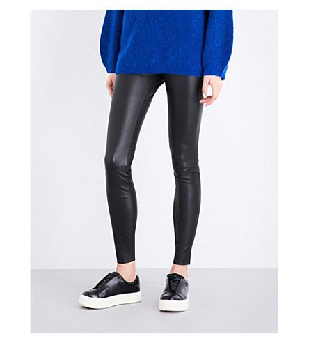 BY MALENE BIRGER Elenasoo high-rise stretch-leather leggings (Black