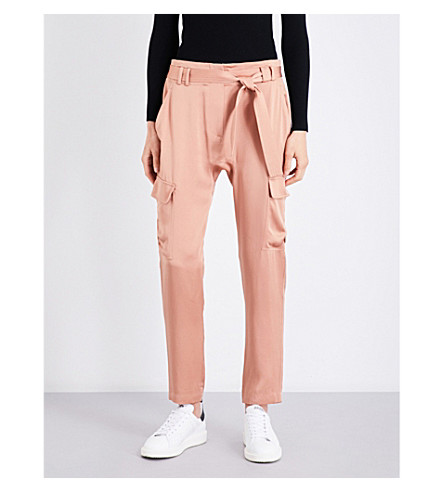 A.L.C Adam relaxed-fit mid-rise satin-crepe trousers (Rose