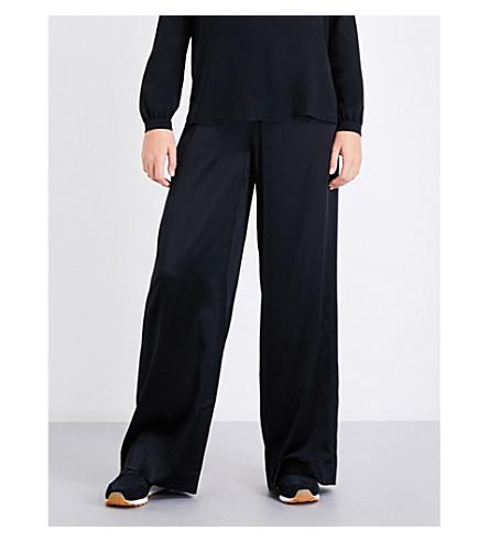 A.L.C Kiesley wide-leg satin trousers (Black