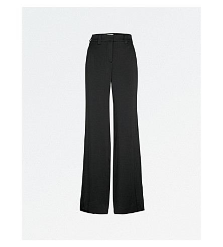 A.L.C Miles wide-leg crepe trousers (Black