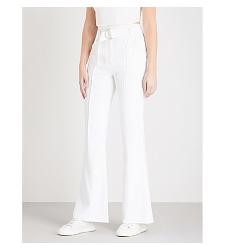 A.L.C Foster flared crepe trousers (Gesso