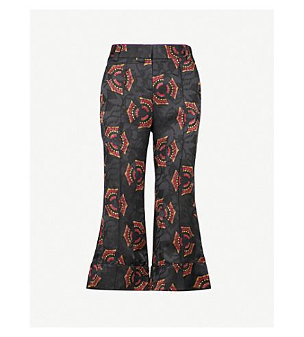 A.L.C Evans silk jacquard trousers (Black