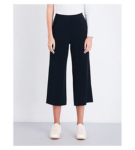 A.L.C Enzo Gaucho high-rise wide-leg crepe trousers (Black