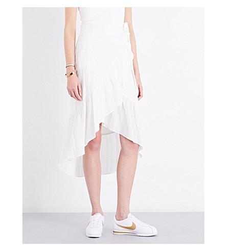A.L.C Charmaine asymmetric wrap-front skirt (Eggshall