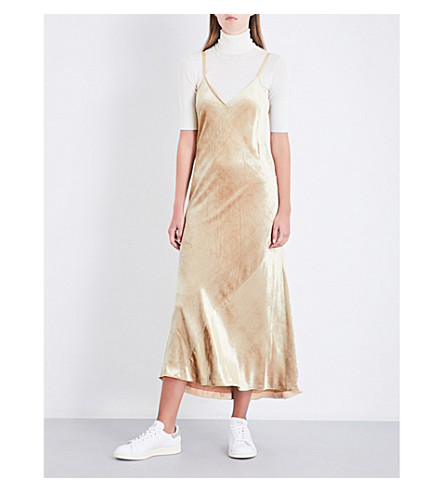 A.L.C Annex sleeveless velvet dress (Champagne