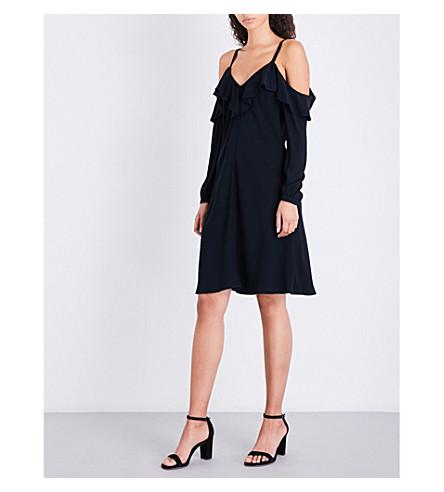 A.L.C Felicia cold-shoulder crepe dress (Black