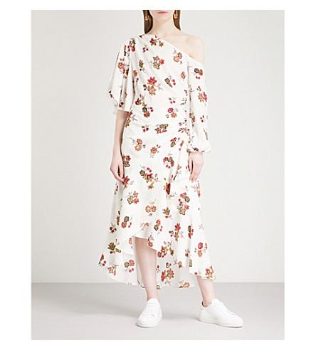 A.L.C Florence floral-print silk midi dress (Eggshell