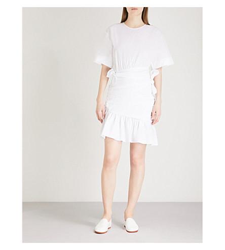 A.L.C Cassian knotted cotton dress (White