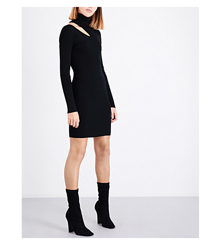 A.L.C West cutout knitted mini dress (Black