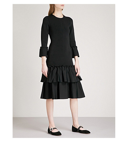 A.L.C Adler ruffled stretch-knit dress (Black