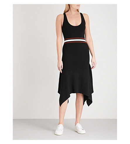 A.L.C Anders sleeveless knitted dress (White/black+multi+stripe
