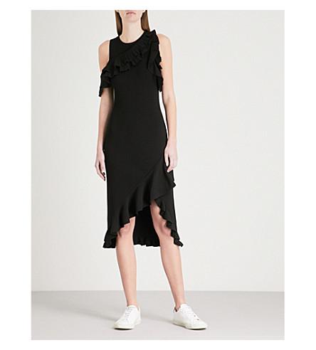 A.L.C Kellam ruffled stretch-knit dress (Black