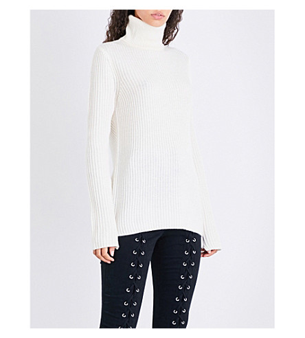 A.L.C Emry wool and cashmere-blend jumper (White
