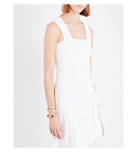 A.L.C Lia stretch-knit cropped top (White