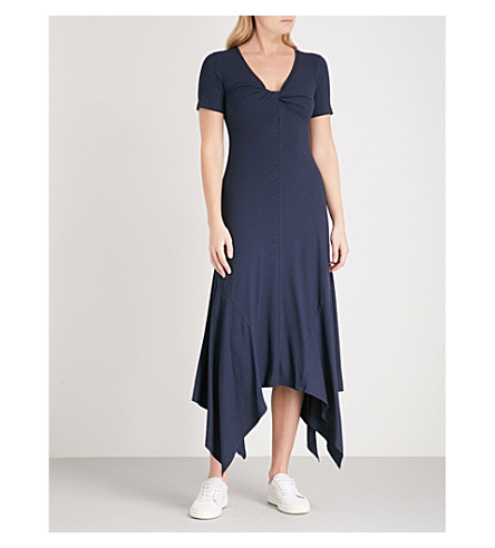 A.L.C Reva V-neck woven dress (Navy