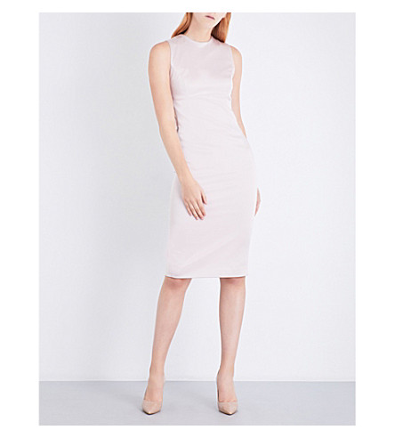 MISHA COLLECTION Nikki sleeveless satin-crepe dress (Blush
