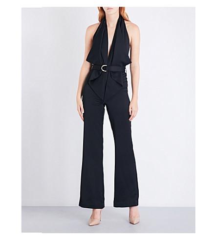 MISHA COLLECTION Bailey satin-crepe jumpsuit (Black