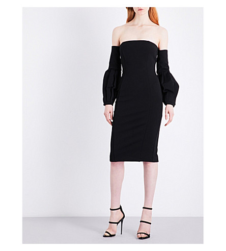MISHA COLLECTION Merena woven dress (Black