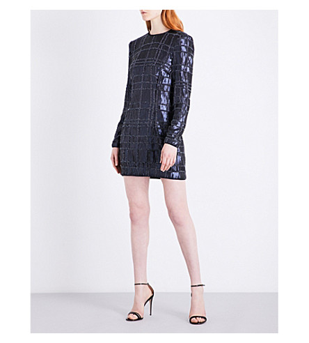 MISHA COLLECTION Ava embellished sequin dress (Navy