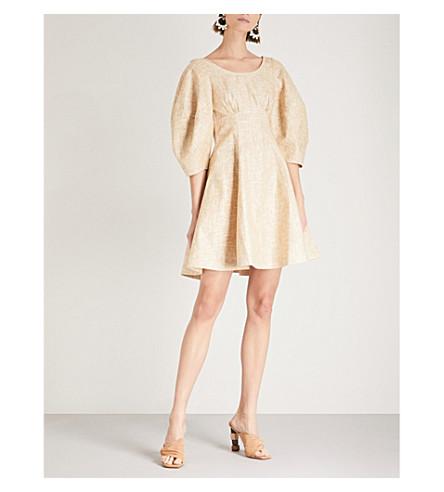 PAPER LONDON Bay linen-blend dress (Latte