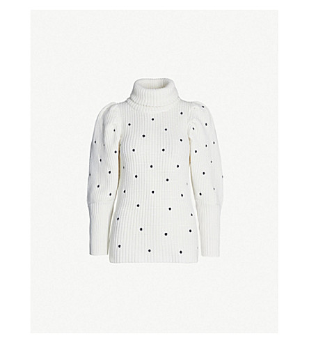 PAPER LONDON Bill polka dot wool sweater (Bobbespot