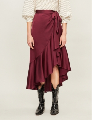 Dante satin skirt