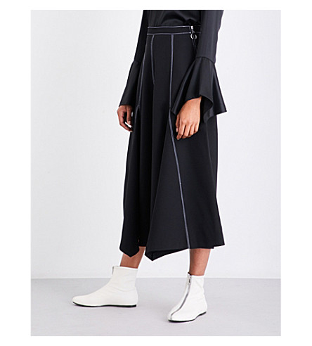 PAPER LONDON King wide-leg twill culottes (Black