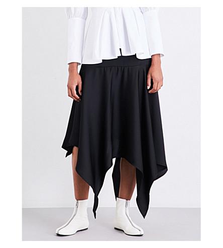 PAPER LONDON Marion crepe midi skirt (Black