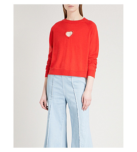 PAPER LONDON Amore wool jumper (Red