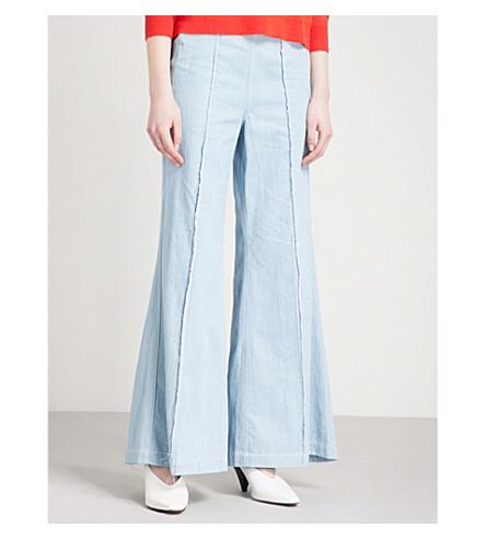 PAPER LONDON Encore regular-fit high-rise flared jeans (Light+wash