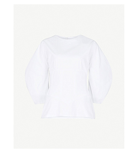 PAPER LONDON Sade cotton top (White