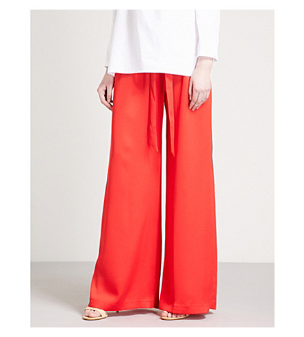 PAPER LONDON Twin regular-fit wide-leg crepe trousers (Red